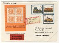 DDR Nr. U01/002b o PHILATELIA 1984 Stuttgart