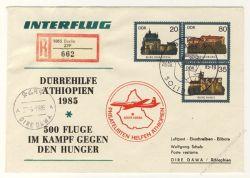 DDR Nr. U01/003 SSt. Interflug Dürrehilfe Äthiopien 1985