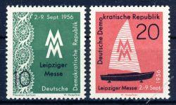 DDR 1956 Mi-Nr. 536-537 ** Leipziger Herbstmesse