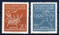 DDR 1956 Mi-Nr. 539-540 ** Olympische Sommerspiele in Melbourne