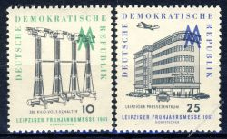 DDR 1961 Mi-Nr. 813-814 ** Leipziger Frühjahrsmesse