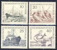DDR 1961 Mi-Nr. 817-820 ** Hochseefischerei