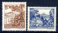 DDR 1961 Mi-Nr. 815-816 ** Landschaften und historische Bauten