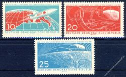 DDR 1961 Mi-Nr. 822-824 ** Erster bemannter Weltraumflug