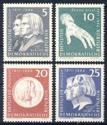 DDR 1961 Mi-Nr. 857-860 ** 150. Geburtstag von Franz Liszt
