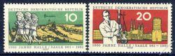 DDR 1961 Mi-Nr. 833-834 ** 1000 Jahre Stadt Halle (Saale)