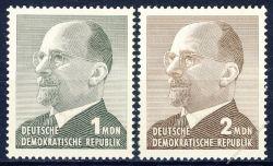 DDR 1965 Mi-Nr. 1087-1088 ** Staatsratsvorsitzender Walter Ulbricht