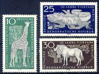 DDR 1965 Mi-Nr. 1093-1095 ** 10 Jahre Tierpark Berlin