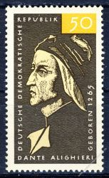 DDR 1965 Mi-Nr. 1097 ** 700. Geburtstag von Dante Alighieri