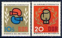 DDR 1965 Mi-Nr. 1100-1101 ** Europameisterschaften im Boxen