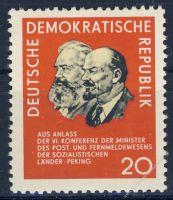 DDR 1965 Mi-Nr. 1120 ** Konferenz der Minister des Post- und Fernmeldewesens der sozialistischen Länder