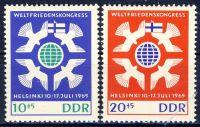 DDR 1965 Mi-Nr. 1122-1123 ** Weltfriedenskongress in Helsinki