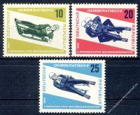 DDR 1966 Mi-Nr. 1156-1158 ** Rennrodel WM in Friedrichroda