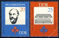 DDR 1966 Mi-Nr. 1165-1166 ** 150. Geburtstag Jan Arnost Smoler