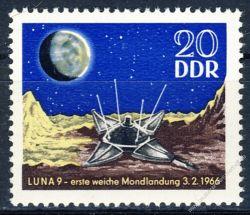 DDR 1966 Mi-Nr. 1168 ** 1. Mondlandung Luna 9