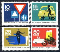 DDR 1966 Mi-Nr. 1169-1172 ** Sicherheit im Straßenverkehr