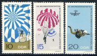 DDR 1966 Mi-Nr. 1193-1195 ** Weltmeisterschaften im Fallschirmspringen