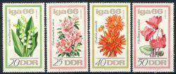 DDR 1966 Mi-Nr. 1189-1192 ** Internationale Gartenbau-Ausstellung (IGA) Erfurt