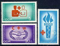 DDR 1966 Mi-Nr. 1207-1209 ** Blutspendewesen, Hilfsorganisationen, Gesundheitserziehung