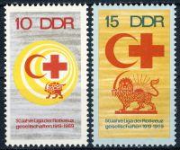 DDR 1969 Mi-Nr. 1466-1467 ** 50 Jahre Liga der Rotkreuzgesellschaften