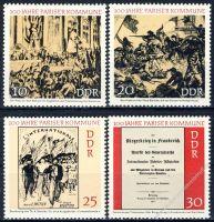 DDR 1971 Mi-Nr. 1655-1658 ** 100 Jahre Pariser Kommune