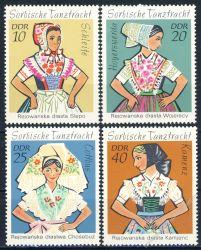 DDR 1971 Mi-Nr. 1668-1671 ** Sorbische Mädchen-Tanztrachten
