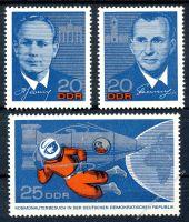 DDR 1965 Mi-Nr. 1138-1140 ** Besuch sowjetischer Kosmonauten