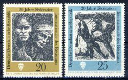 DDR 1971 Mi-Nr. 1680-1681 ** 20 Jahre Internationale Förderation der Widerstandskämpfer