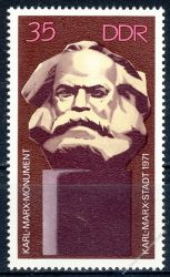 DDR 1971 Mi-Nr. 1706 ** Einweihung des Karl-Marx-Monuments Chemnitz