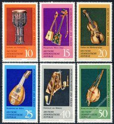 DDR 1971 Mi-Nr. 1708-1713 ** Musikinstrumenten-Museum