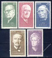 DDR 1972 Mi-Nr. 1731-1735 ** Berühmte Persönlichkeiten