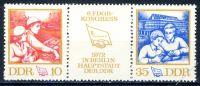 DDR 1972 Mi-Nr. 1761-1762 (ZD) ** Kongress des Freien Deutschen Gewerkschaftsbundes