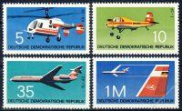 DDR 1972 Mi-Nr. 1749-1752 ** Flugzeuge
