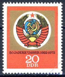 DDR 1972 Mi-Nr. 1813 ** 50 Jahre Union der Sozialistischen Sowjetrepubliken