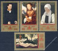 DDR 1972 Mi-Nr. 1769-1772 ** 500. Geburtstag von Lucas Cranach d. Ä.