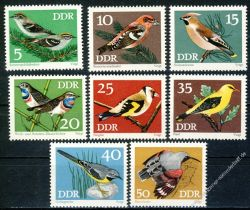 DDR 1973 Mi-Nr. 1834-1841 ** Geschützte Singvögel