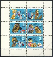 DDR 1972 Mi-Nr. 1807-1812 (Klb) ** Figuren des Kinderfernsehens der DDR