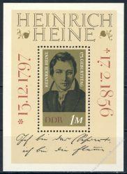 DDR 1972 Mi-Nr. 1814 (Block 37) ** 175. Geburtstag von Heinrich Heine