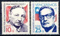 DDR 1973 Mi-Nr. 1890-1891 ** Solidarität mit dem chilenischen Volk