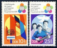 DDR 1973 Mi-Nr. 1829-1830 ** Weltfestspiele der Jugend und Studenten