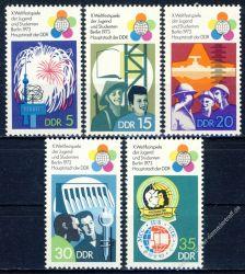 DDR 1973 Mi-Nr. 1862-1866 ** Weltfestspiele der Jugend und Studenten