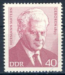 DDR 1973 Mi-Nr. 1855 ** Persönlichkeiten der deutschen Arbeiterbewegung