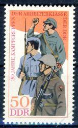 DDR 1973 Mi-Nr. 1876 ** 20 Jahre Kampfgruppen