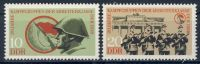 DDR 1973 Mi-Nr. 1874-1875 ** 20 Jahre Kampfgruppen