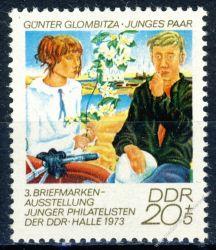 DDR 1973 Mi-Nr. 1884 ** Briefmarkenausstellung junger Philatelisten der DDR