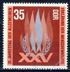 DDR 1973 Mi-Nr. 1898 ** 25. Jahrestag der Allgemeinen Erklärung der Menschenrechte durch die UNO