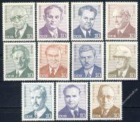 DDR 1974 Mi-Nr. 1907-1917 ** Persönlichkeiten der deutschen Arbeiterbewegung