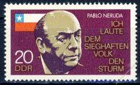 DDR 1974 Mi-Nr. 1921 ** 1. Todestag von Pablo Neruda
