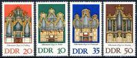 DDR 1976 Mi-Nr. 2111-2114 ** Silbermann-Orgeln