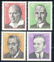 DDR 1976 Mi-Nr. 2107-2110 ** Persönlichkeiten der deutschen Arbeiterbewegung